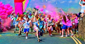 Image taken from The Rainbow Run - a 5k event in Dún Laoghaire west pier, Ireland